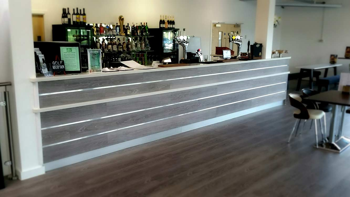 Cooper Bespoke Joinery Bar hotel restaurant vetinary surgery beauty reception counter fabrication Corian