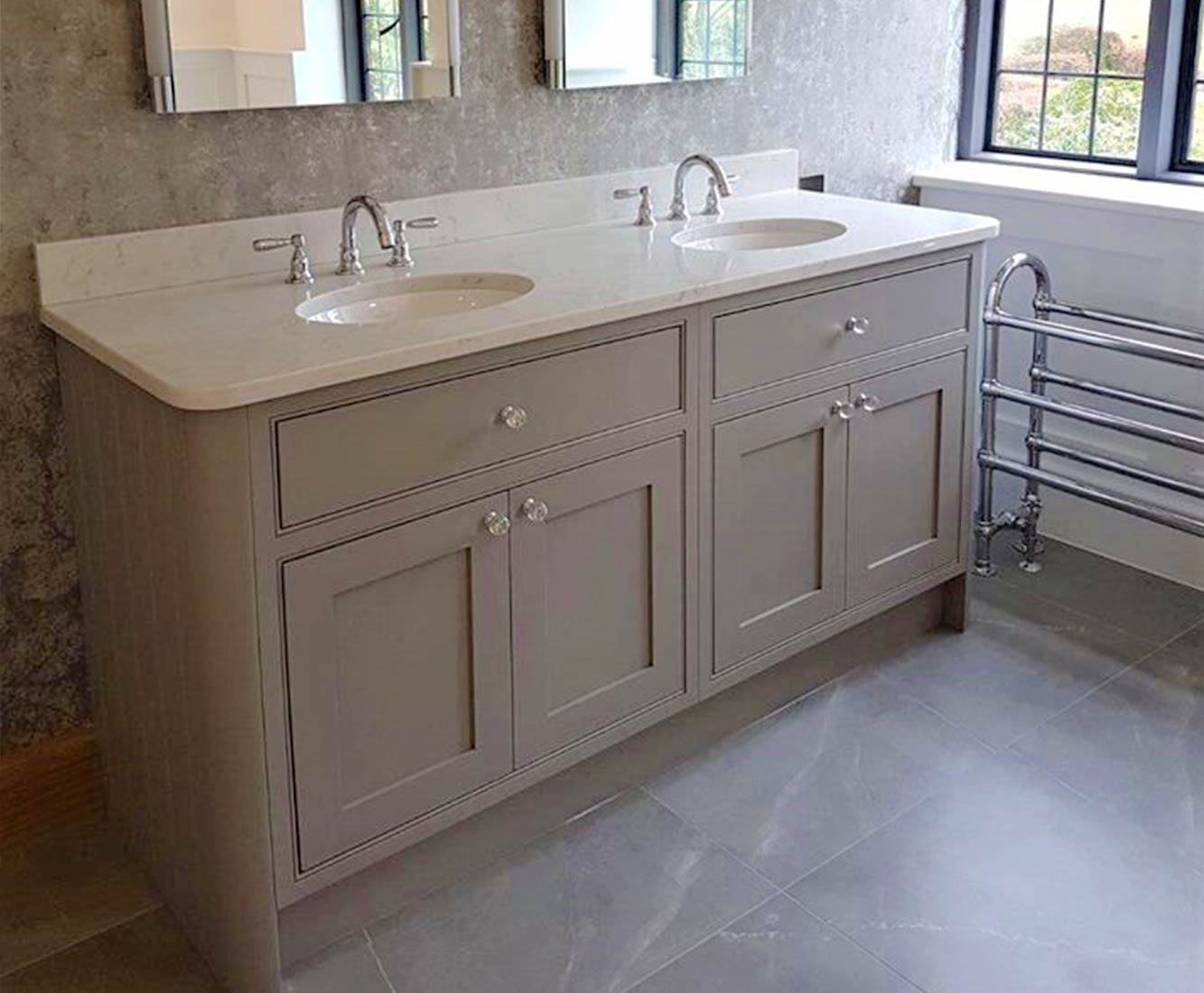 Cooper Bespoke Joinery Bespoke vanity double sink worsted painted jim lawrence