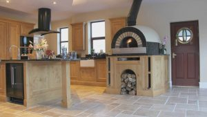 Frank Anthony Kitchens Handbuilt Wells Oak Pizza Oven Island
