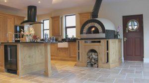 Frank Anthony Kitchens Handbuilt Wells Oak Pizza Oven Island