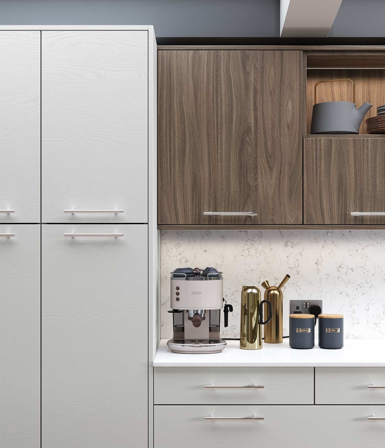 Masterclass-kitchen-Larna-light-grey-graphite-madoc-tuscan-walnut-cameo-2