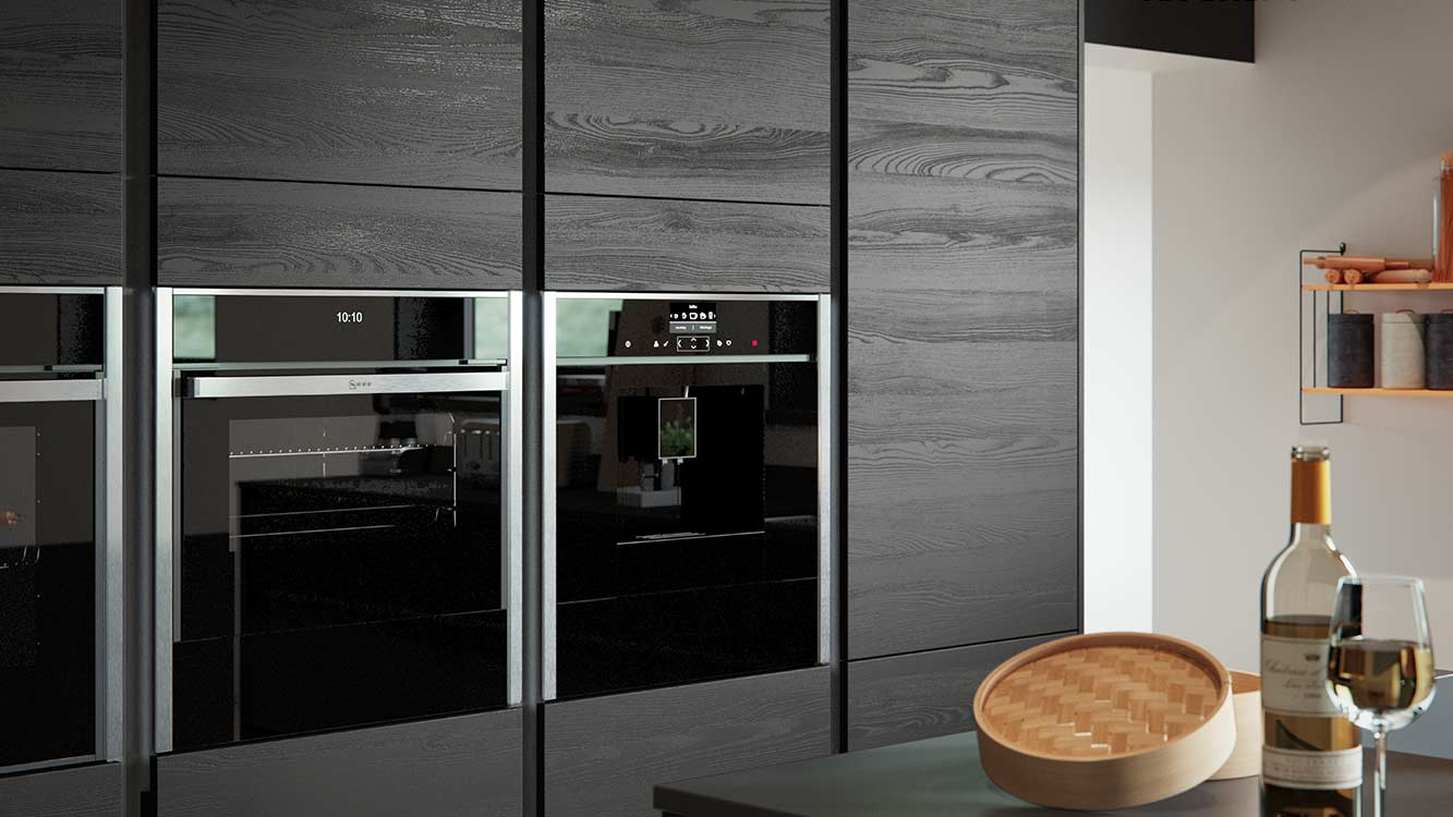 Masterclass kitchens Blackburn H line larna graphite cameo 2