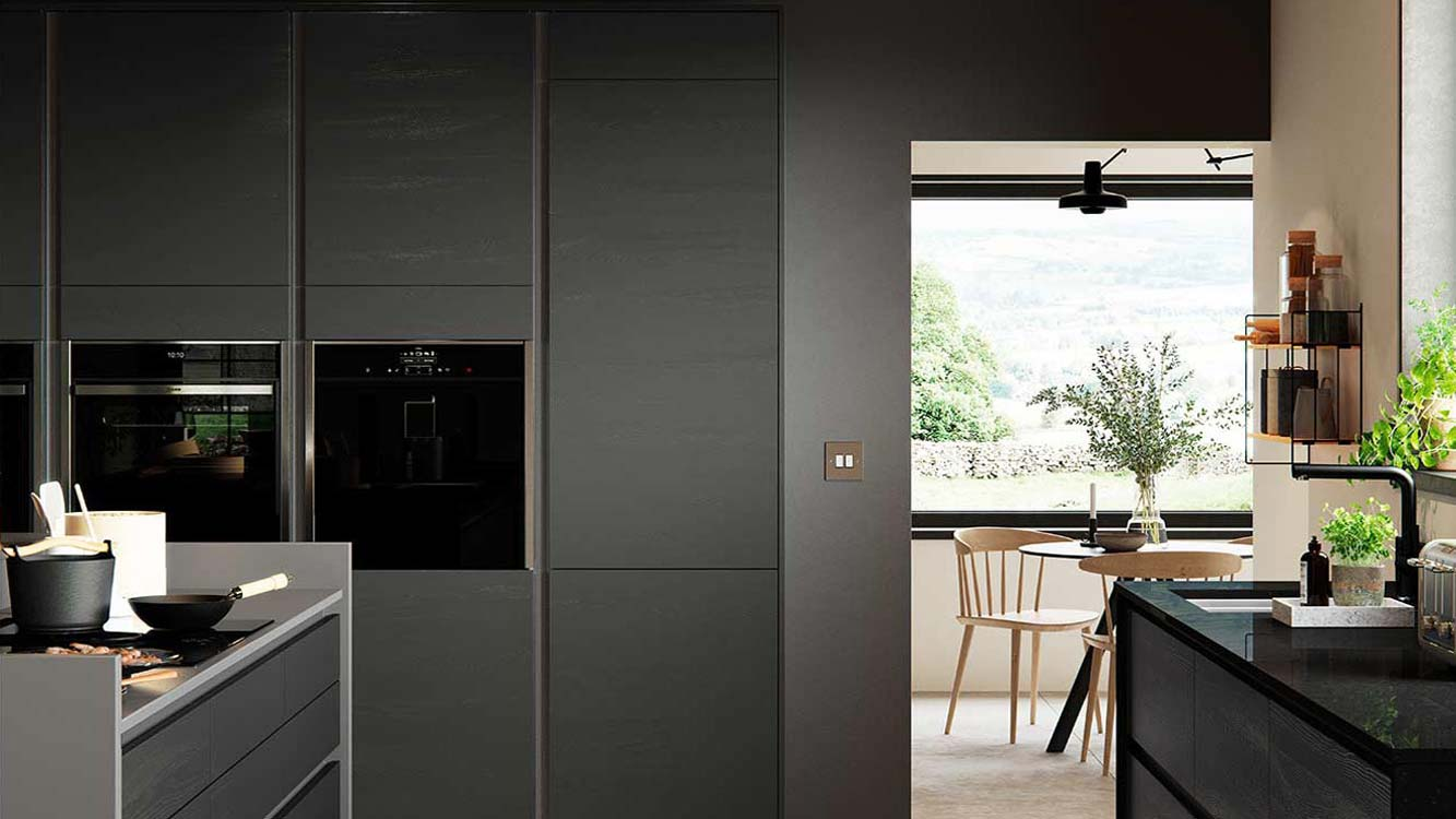 Masterclass kitchens Blackburn H line larna graphite cameo 3 1