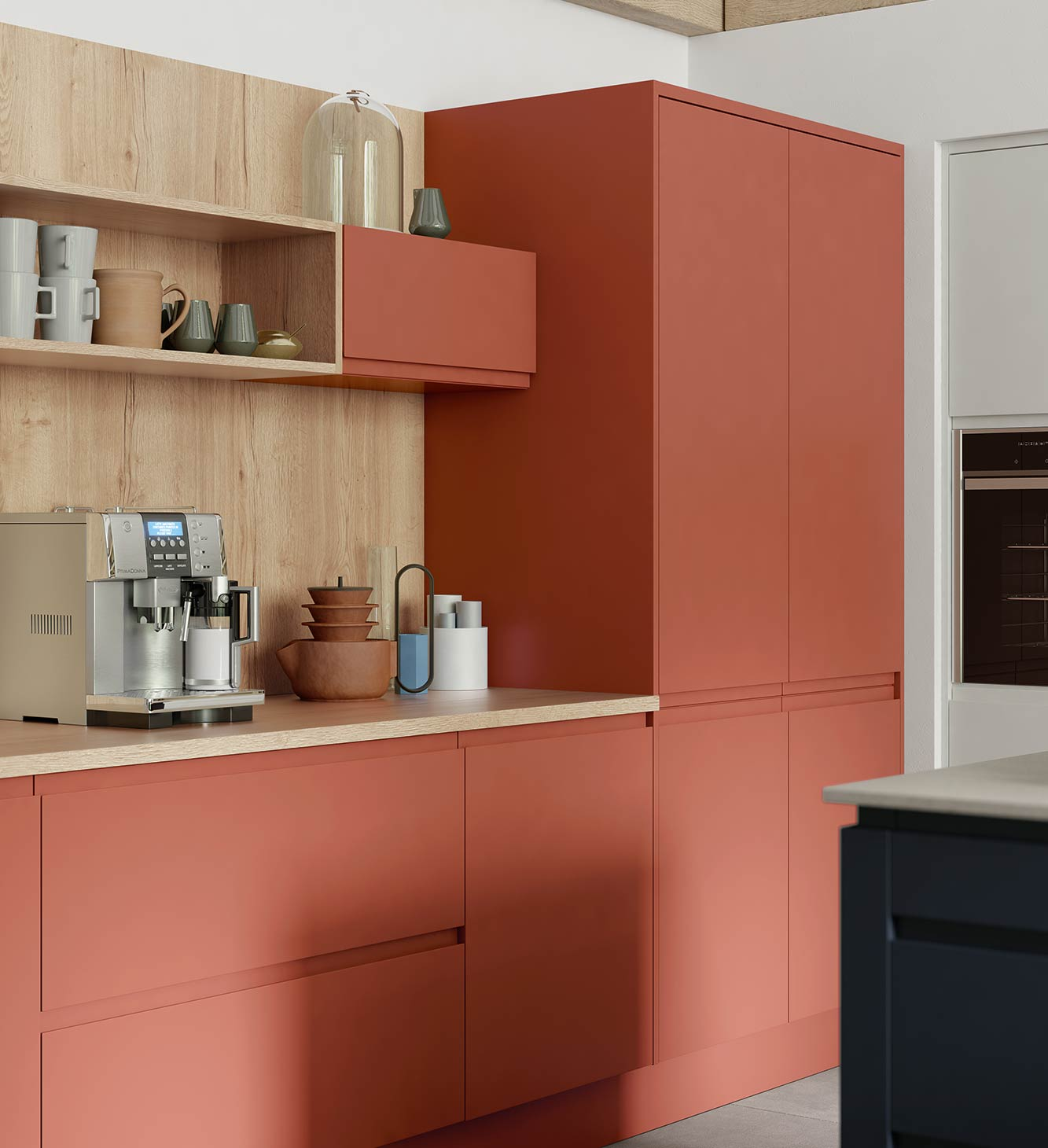Masterclass kitchens Blackburn ROMA TERRACOTTA SUNSET CLARET OXFORD BLUE SCOTS GREY CAMEO B