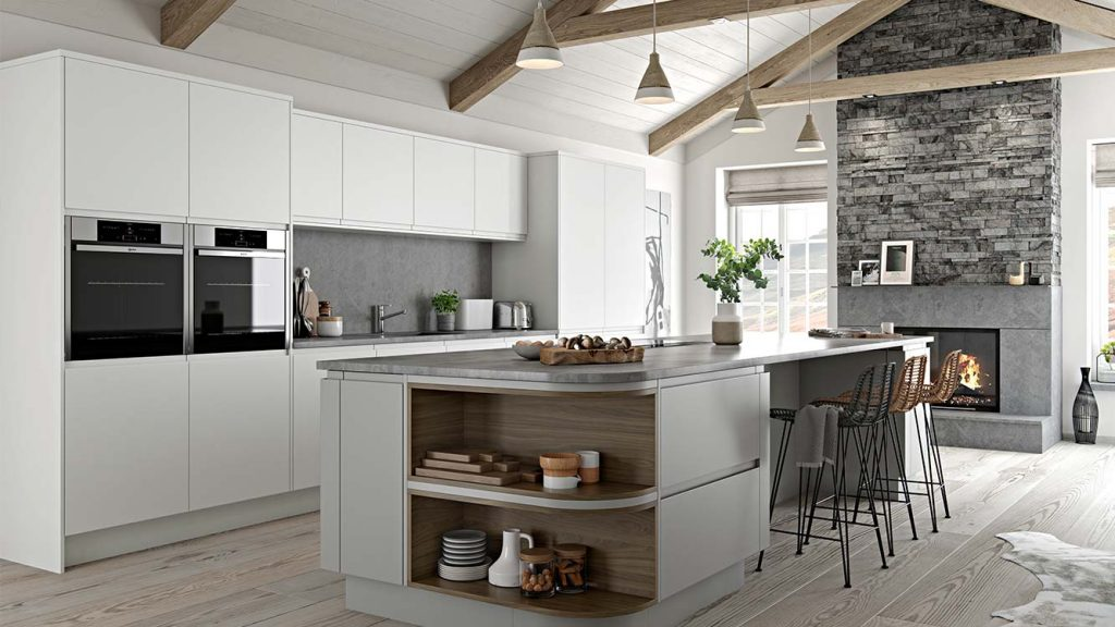Masterclass kitchens Blackburn Roma White LightGrey 9k