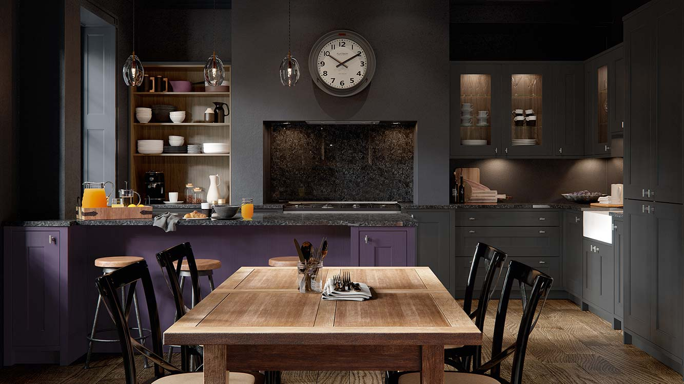 Masterclass kitchens blackburn ASHBOURNE MAIN MULBERRY GRAPHITE