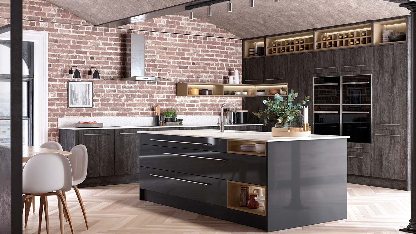 Masterclass kitchens blackburn Lumina Graphie with Deco Twilight