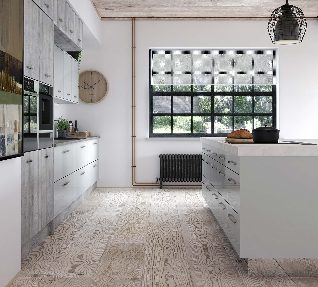 Masterclass kitchens blackburn Lumina Light Grey with Madoc Manhattan2
