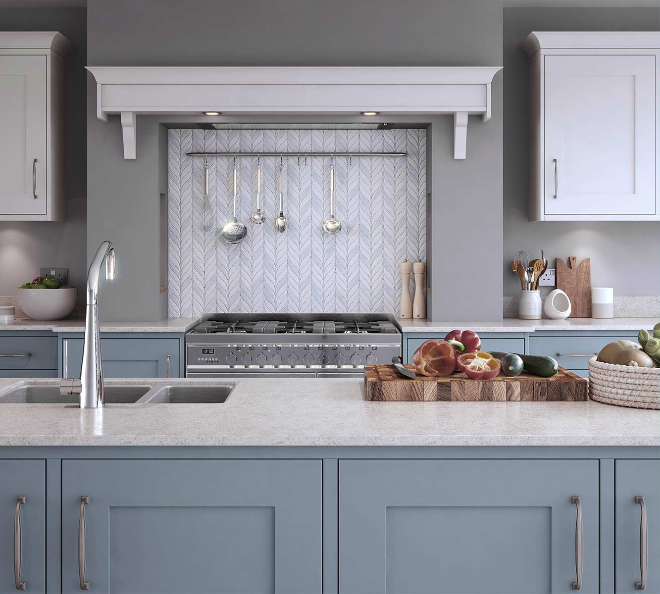 Masterclass-kitchens-blackburn-Marlborough-Coastal-Mist-with-White-2