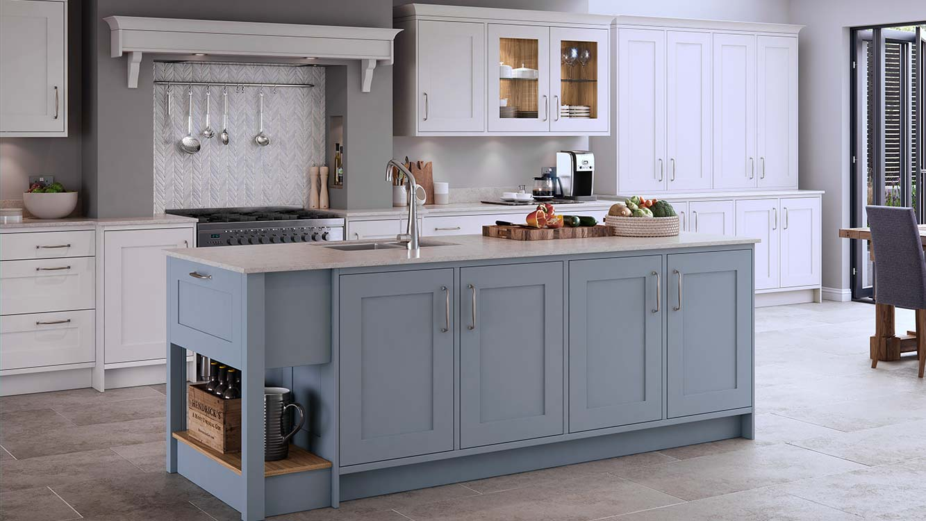 Masterclass-kitchens-blackburn-Marlborough-Coastal-Mist-with-White