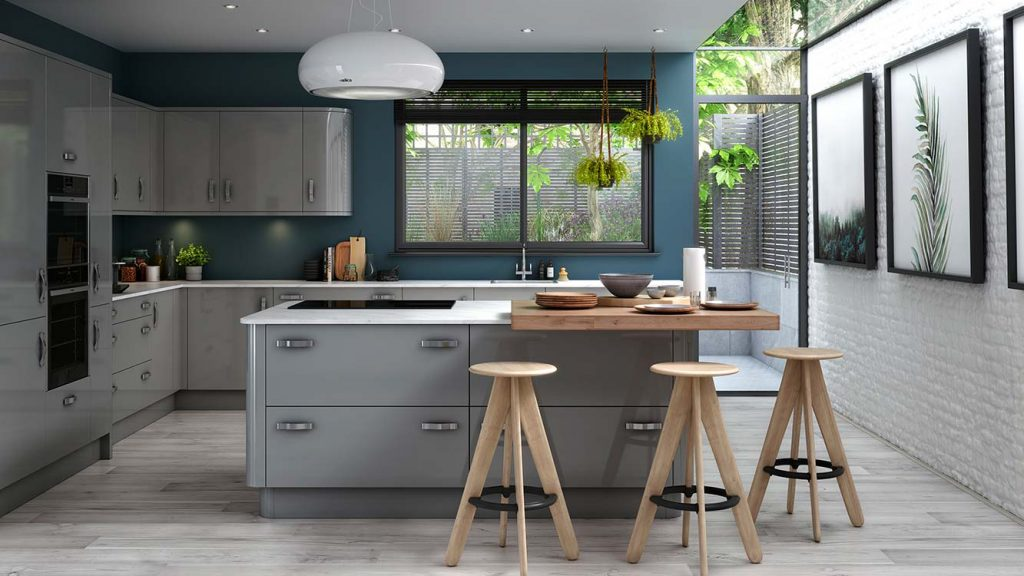 Masterclass kitchens blackburn Nevada Light Grey with Heritage Grey