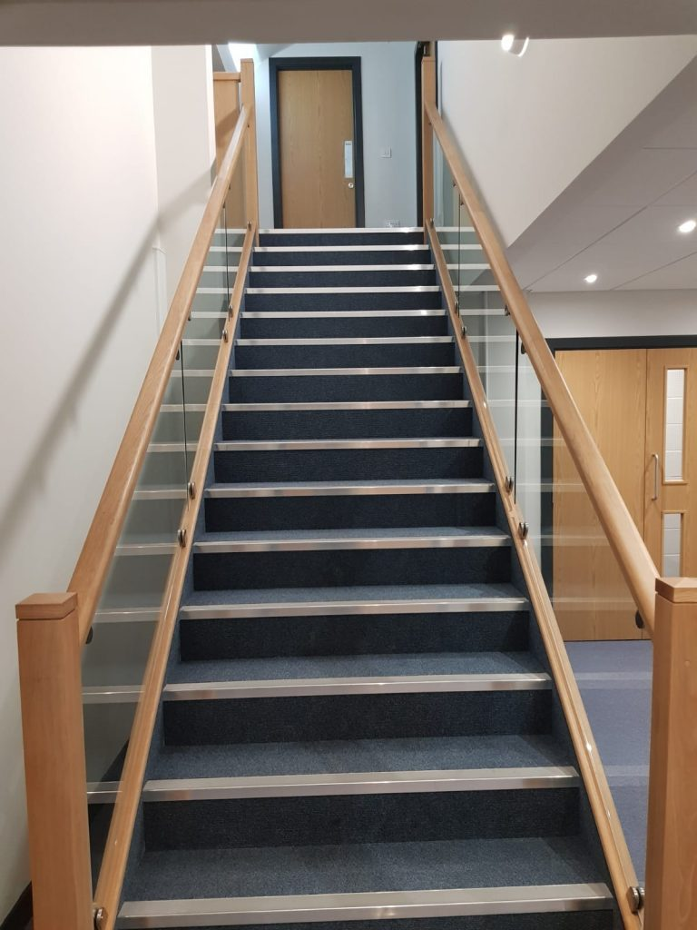 Oxendale Oak Glass Bespoke Staircase Cooper Joinery Blackburn
