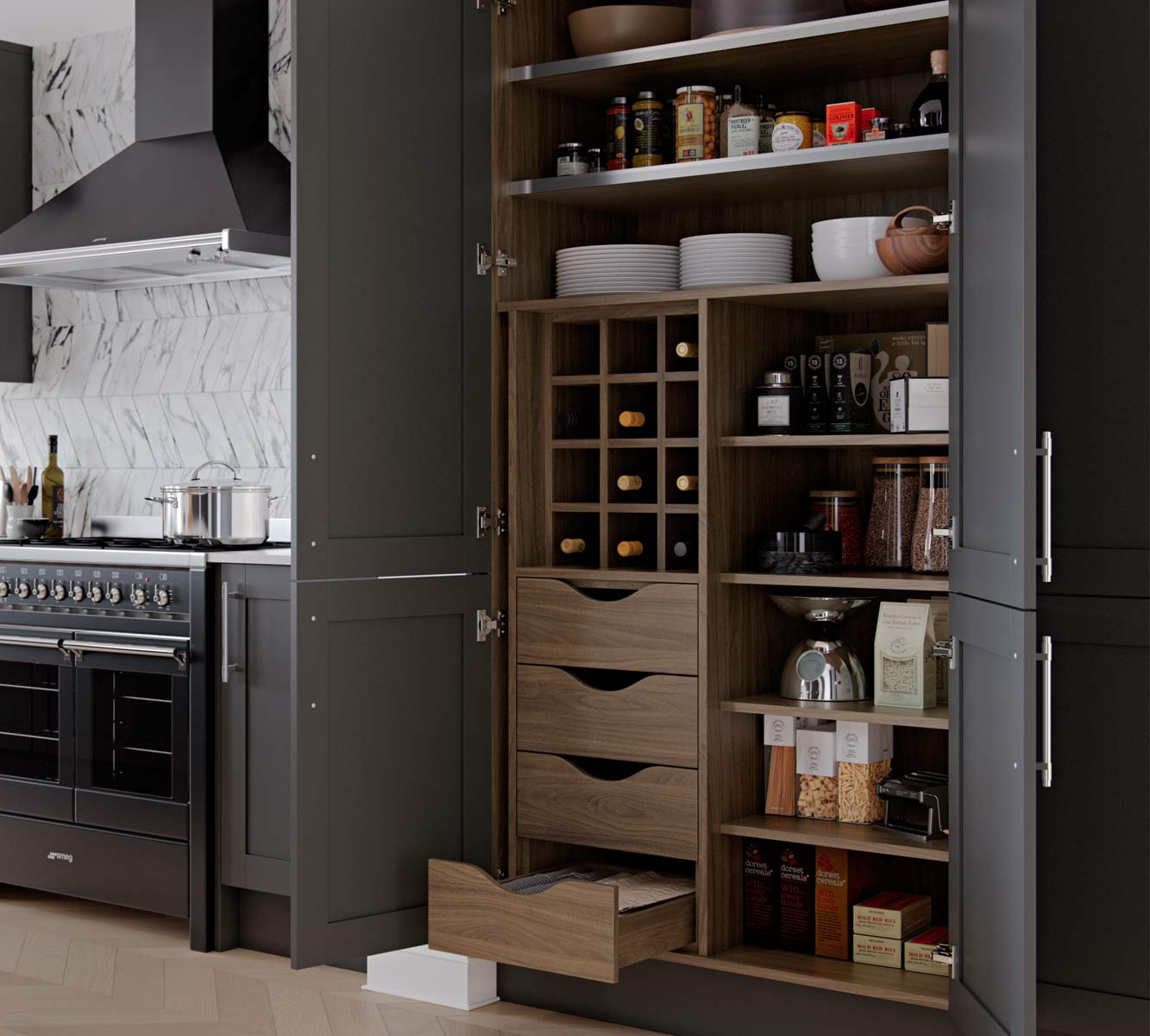 Masterclass Kitchens Blackburn Lancashire Shelford highland stone portland oak 150 magnaspace2