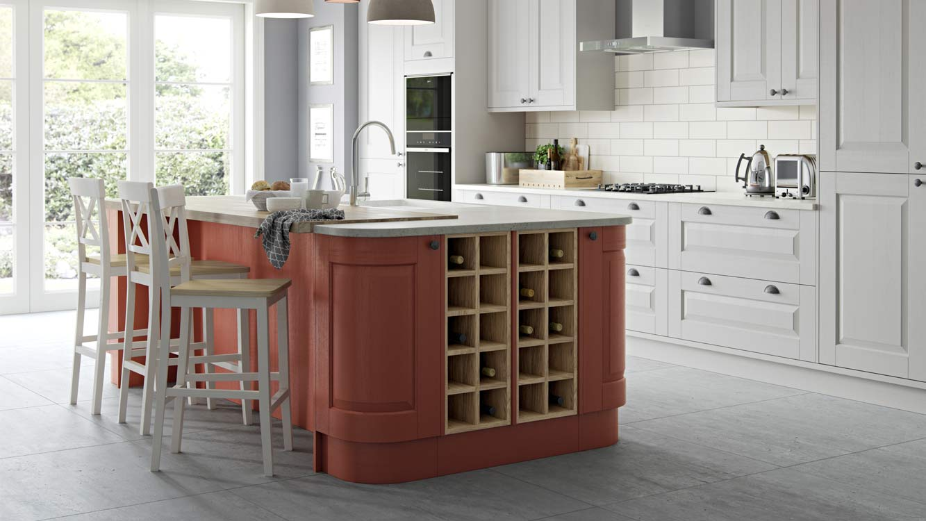 Masterclass Kitchens Blackburn Lancashire carnegie terracotta sunset scots grey