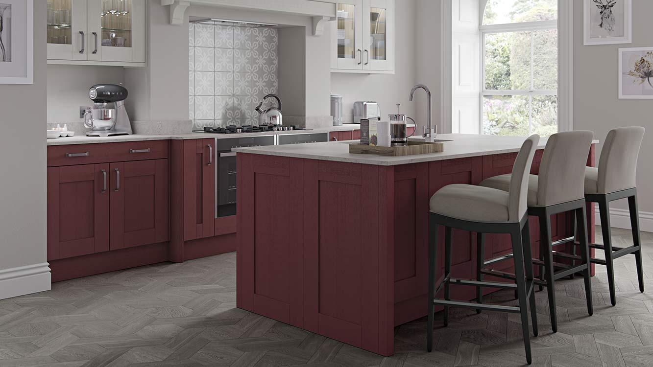 Masterclass Kitchens Blackburn Lancashire sherborne claret scots grey