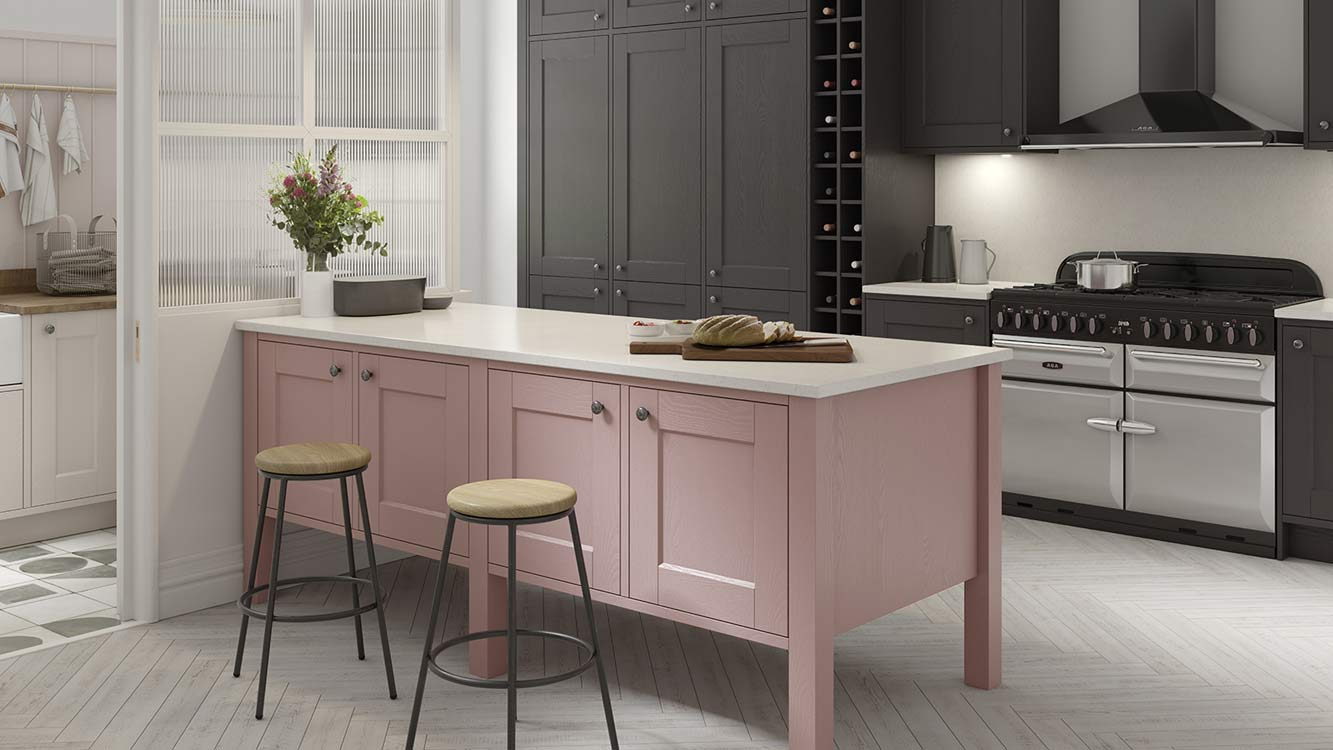 Masterclass Kitchens Blackburn Lancashire solva vintage rose graphite